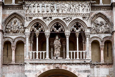 The Cathedral in Ferrara Stock Images