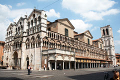 Cathedral of ferrara Royalty Free Stock Images
