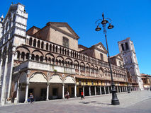 Cathedral, Ferrara, Italy Stock Images