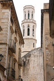 Cathedral in Figueres, Spain stock images