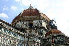 Cathedral of florence. Cathedral closeup Royalty Free Stock Images