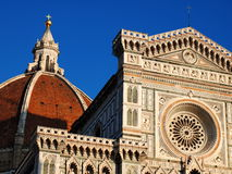 Cathedral in Florence. Detail of famous church in Florence, photo was taken in February Stock Photo
