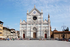 Cathedral in Florence. The Santa Croce Basilica Royalty Free Stock Photos