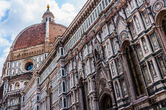 The cathedral of Florence cattedrale di santa maria del fiore. In Italy Stock Photos