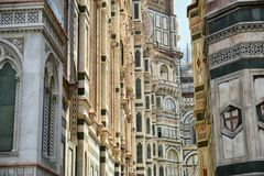 Cathedral of Florence detail stock photo