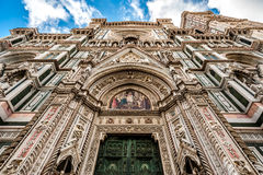Cathedral of Florence in Italy Stock Images