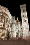 Cathedral in Florence (Italy) at night Stock Images