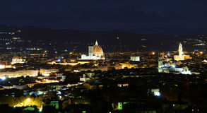 Cathedral in Florence and night Stock Photography