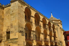 The Cathedral and former Great Mosque of Cordoba; Andalusia, Spain Royalty Free Stock Photo