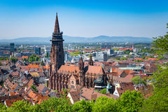 Cathedral in Freiburg royalty free stock photos