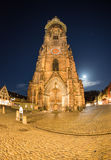 Cathedral of Freiburg at night Stock Photo