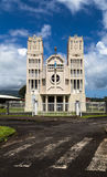Cathedral in French Polynesia. Colonial architechture in Oceania was brought by Europeans Stock Photography