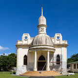 Cathedral in French Polynesia. Colonial architechture in Oceania was brought by Europeans Stock Photos