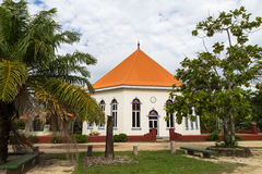 Cathedral in French Polynesia. Colonial architechture in Oceania was brought by Europeans Royalty Free Stock Images