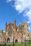 Cathedral front, Hereford. Royalty Free Stock Photography