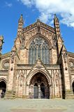 Cathedral front, Hereford. Stock Photo