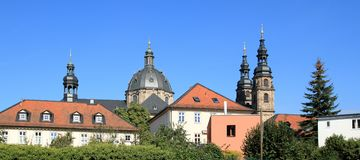 Cathedral in Fulda from the south side. Cathedral in Fulda, Germany from the south side seen royalty free stock photography