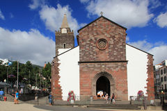 Cathedral of Funchal, Madeira stock image