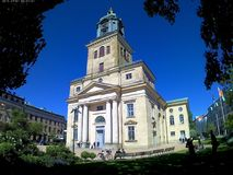The cathedral of Göteborg stock images