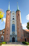 Cathedral in Gdansk - Oliwa. Oliwa Cathedral in vertical view Stock Photos
