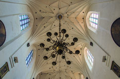 CATHEDRAL IN GDANSK-OLIWA. Chandelier and ceiling of the Cathedral in Gdansk-Oliwa Stock Photos