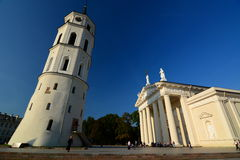 Cathedral and Gediminas bell tower. Vilnius. Lithuania Royalty Free Stock Photography