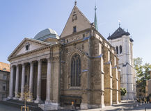 Cathedral in geneva. Cathedral Saint Pierre in Geneva, Switzerland Stock Images