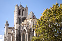 Cathedral in ghent Stock Photo