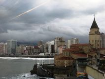 Cathedral in Gijon, Spain Royalty Free Stock Images