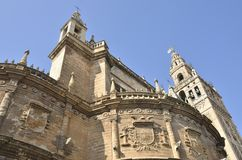 Cathedral and Giralda Stock Image