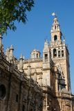 Cathedral and Giralda of Seville. Cathedral anda Giralda of Seville, one of the largest churches in the world and an outstanding example of the Gothic and Stock Images