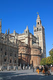 Cathedral and Giralda, Seville. Royalty Free Stock Photo