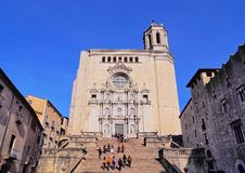 Cathedral in Girona Stock Image