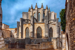 Cathedral in Girona, Catalonia, Spain Stock Image