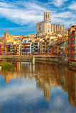 Cathedral in Girona, Catalonia, Spain Royalty Free Stock Images