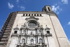 Cathedral in Girona Royalty Free Stock Photography