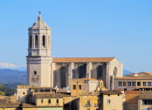 Cathedral in Girona Stock Photo