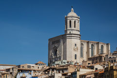 Cathedral of Girona Stock Photos