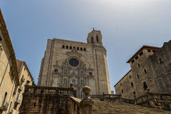 The Cathedral of Girona. Spain royalty free stock images