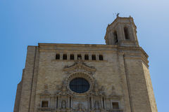 The Cathedral of Girona. Spain royalty free stock image