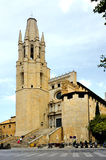 Cathedral in Girona, Spain Stock Image