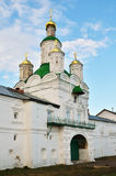 Cathedral with golden cupolas Stock Images
