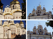 Cathedral with golden domes Stock Photography