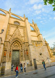 Cathedral at golden hour Stock Photography