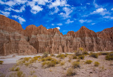Cathedral Gorge State Park. Eroded Spires Of Cathedral Gorge State Park, Nevada Stock Images