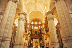 The Cathedral of Granada, Andalusia, Spain Stock Images