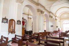 Cathedral of Granada indoor view,Nicaragua Royalty Free Stock Photo