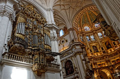 Cathedral of granada. Internal view of the cathedral of granada (spain Royalty Free Stock Images