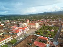 Cathedral in Granada Nicaragua Royalty Free Stock Photo