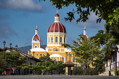 Cathedral of Granada, Nicaragua. The beautiful Cathedral of Granada in Granada, Nicaragua. Granada was founded in 1524 and it`s the first European city in stock photos